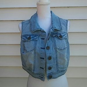 Cropped Denim Vest size XL